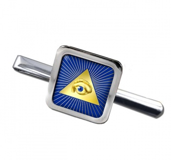 Eye of Providence (All Seeing Eye of God) Square Tie Clip