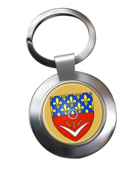 Seine-Saint-Denis (France) Metal Key Ring