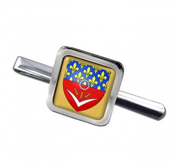 Seine-Saint-Denis (France) Square Tie Clip