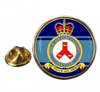 RAF Station Seletar Round Pin Badge