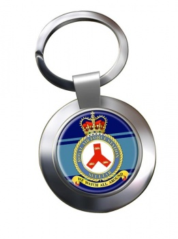 RAF Station Seletar Chrome Key Ring