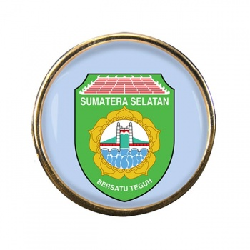Sumatera Selatan (Indonesia) Round Pin Badge