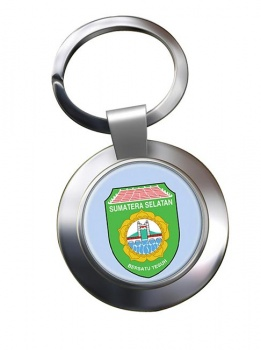 Sumatera Selatan (Indonesia) Metal Key Ring