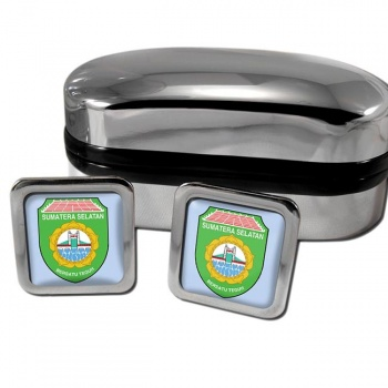 Sumatera Selatan Indonesia Square Cufflinks