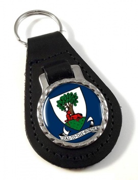 Selkirkshire (Scotland) Leather Key Fob