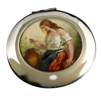 The Love Letter by Selous Round Mirror