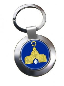 Masonic Lodge Senior Warden Chrome Key Ring