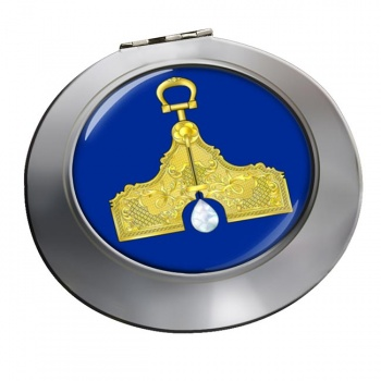 Masonic Lodge Senior Warden Chrome Mirror