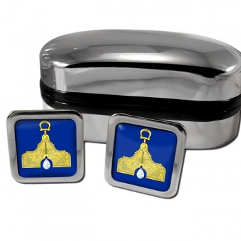 Masonic Lodge Senior Warden Square Cufflinks
