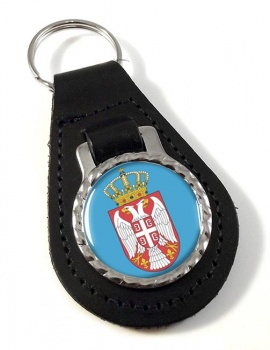 Coat of Arms   (Serbia) Leather Key Fob