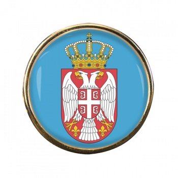 Coat of Arms (Serbia) Round Pin Badge
