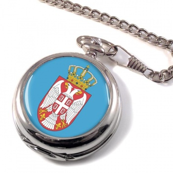 Coat of Arms Срп�ки Грб (Serbia) Pocket Watch
