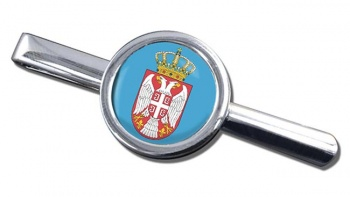 Coat of Arms   (Serbia) Round Tie Clip
