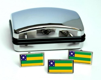 Sergipe (Brasil) Flag Cufflink and Tie Pin Set