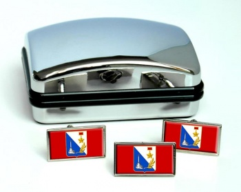 Sevastopol Flag Cufflink and Tie Pin Set