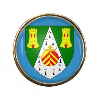 South Glamorgan Round Pin Badge