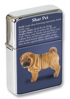 Shar Pei Flip Top Lighter