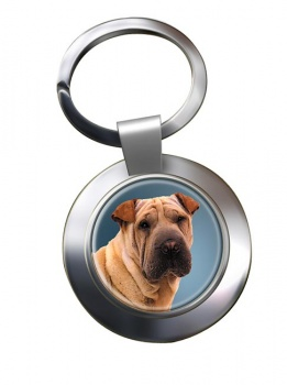Shar Pei Metal Key Ring