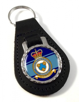 RAF Station Shawbury Leather Key Fob