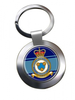 RAF Station Shawbury Chrome Key Ring