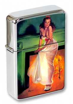 Sheer Delight Pin-up Girl Flip Top Lighter