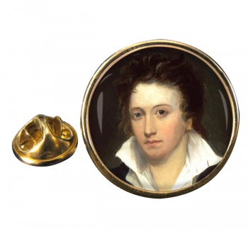 Percy Bysshe Shelley Round Pin Badge