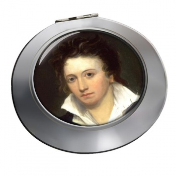 Percy Bysshe Shelley Chrome Mirror