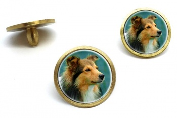 Shetland Sheepdog  Golf Ball Marker Set