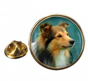 Shetland Sheepdog Round Pin Badge