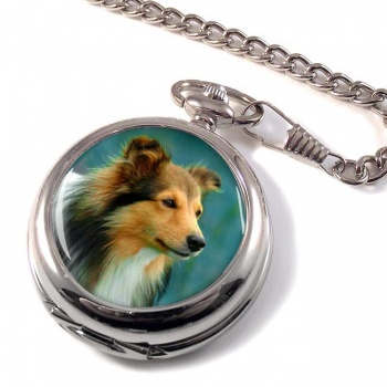Shetland Sheepdog Pocket Watch