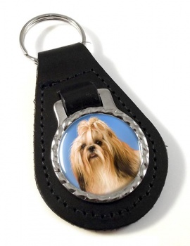 Shih Tzu Leather Key Fob