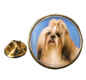 Shih Tzu Round Pin Badge