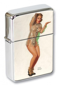 A Little Shower Pin-up Girl Flip Top Lighter