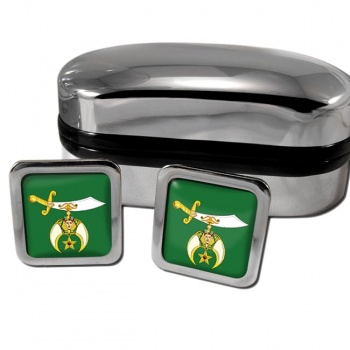 The Ancient Arabic Order of the Nobles of the Mystic Shrine Square Cufflinks