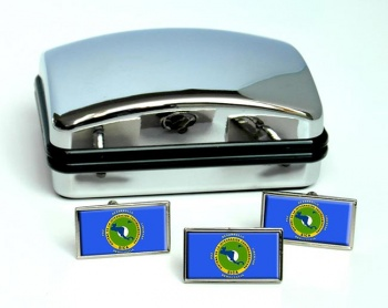 SICA Sistema de la Integracion Centroamericana Flag Cufflink and Tie Pin Set