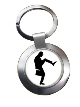 Ministry of Silly Walks Chrome Key Ring