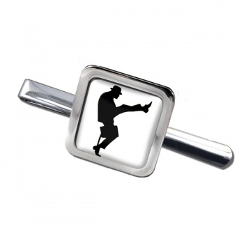Ministry of Silly Walks Square Tie Clip