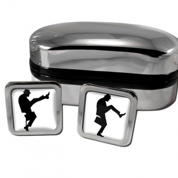 Ministry of Silly Walks Square Cufflinks