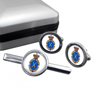 High Sheriff Round Cufflink and Tie Clip Set