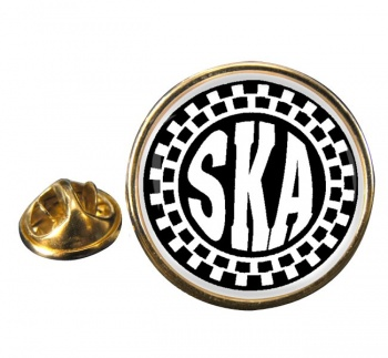 Ska Round Pin Badge
