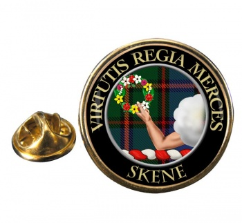 Skene Scottish Clan Round Pin Badge