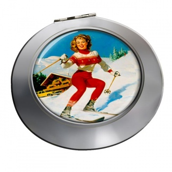 Skiier Chrome Mirror