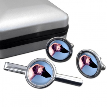Sloughi  Cufflink and Tie Clip Set