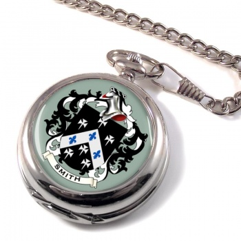 Smith England Coat of Arms Pocket Watch