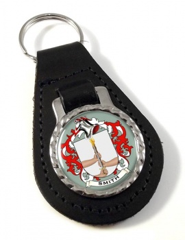 Smith Ireland Coat of Arms Leather Key Fob