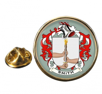 Smith Ireland Coat of Arms Round Pin Badge