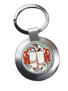 Smith Ireland Coat of Arms Chrome Key Ring