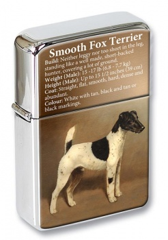 Smooth Fox Terrier Flip Top Lighter