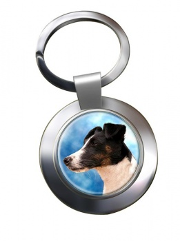 Smooth Fox Terrier Metal Key Ring