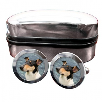 Smooth Collie  Round Cufflinks